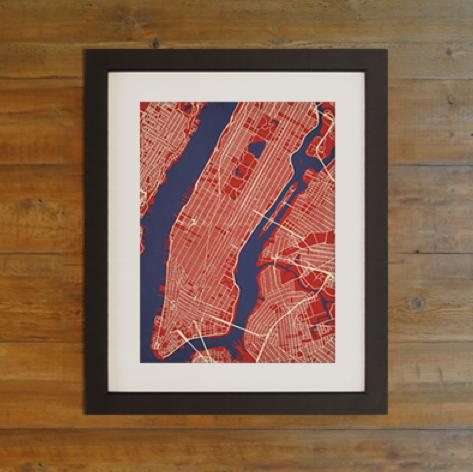 City Prints Map Art