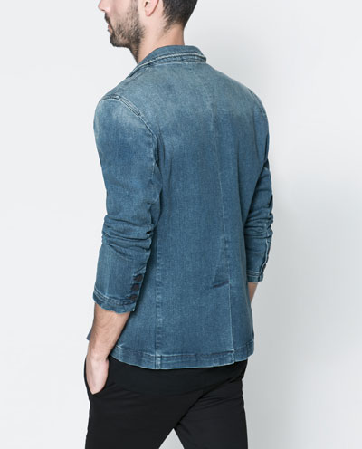 Zara.Denim.Blazer.back