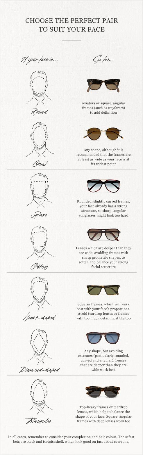 Types Of Glasses Frames For Face Shapes : Style 101: Choosing Sunglasses For Different Face Shapes