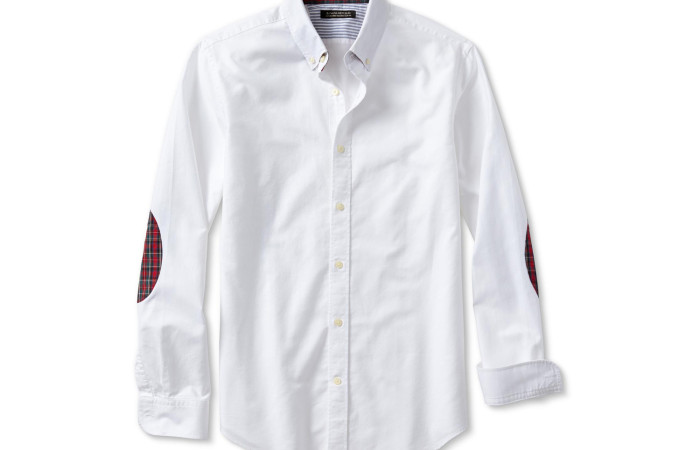 Banana Republic Tailored Slim-Fit Elbow-Patch Oxford Shirt