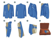 Frequent Flyer: How to pack your suit jacket or blazer the right way