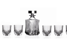 RCR Crystal Adagio Collection 7-Piece Whiskey Set by Lorenzo