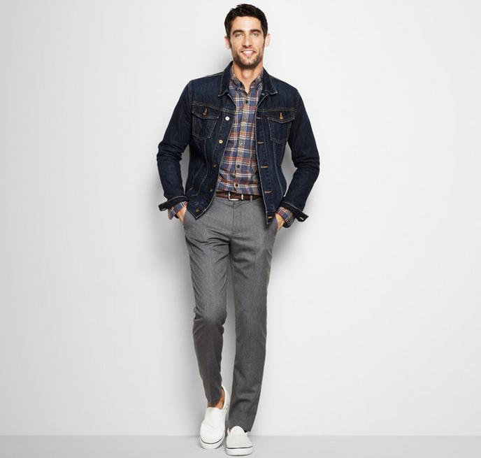 J.Crew-jean-jacket-grey-pants
