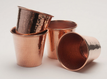 Hammered Copper Cups at Dot & Bo