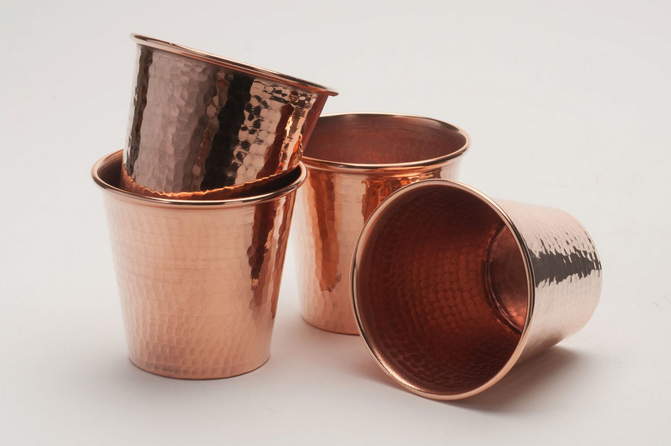 Dot-and-bo-hammered-copper-cups