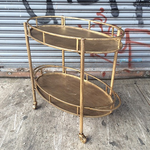 Gold Bar Cart at A&G Merch
