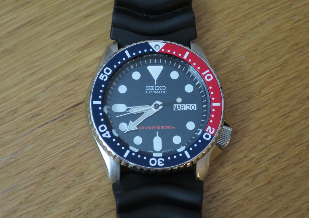 Seiko-pepsi-diver-SKX009-watch-front-view