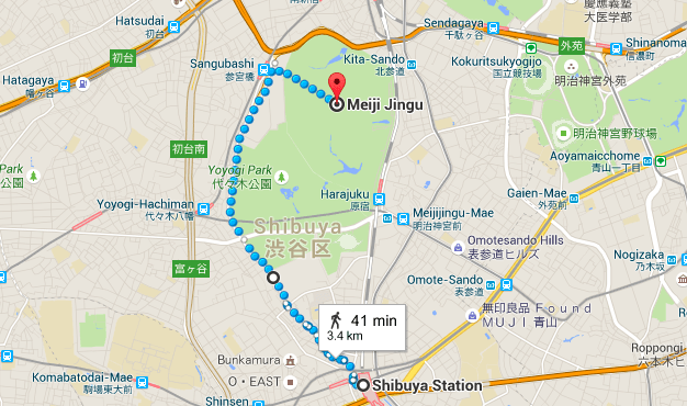 Shibuya-to-Meiji-Jingu