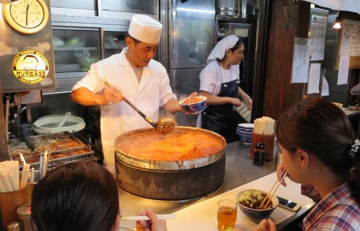 Eating Guts at Tsukiji Market in Japan